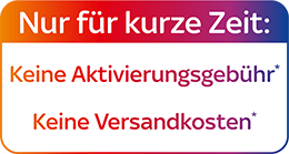 0€ Aktivierungsgebühr + 0€ Versandkosten